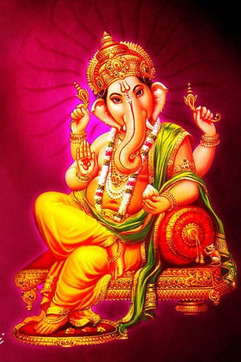 Ganesha Has Been Represented With The Head Of An Elephant Since The Early Stages Of His Appearance In Indian Art Ganesha Pictures Hindu Art Radha Krishna Art