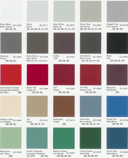 Residential Metal Roofing color options. Metal Roofing has come a long way in the last 50 years!
