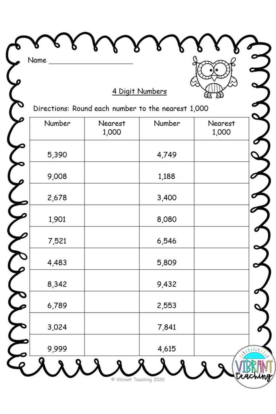 Rounding Worksheets Nearest 1 000 Rounding Worksheets Kids Worksheets Printables Elementary Math