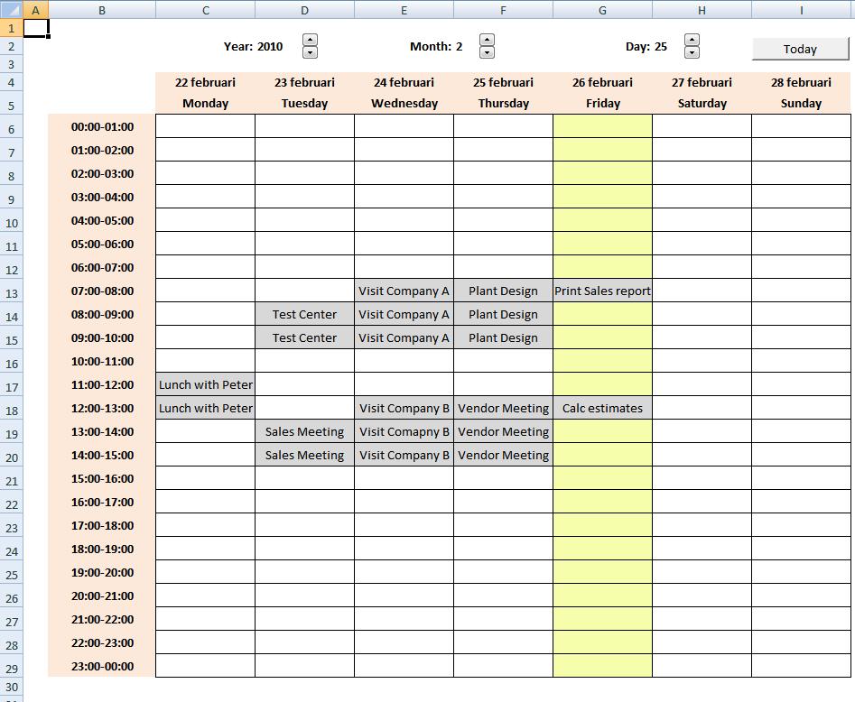 Calendar Schedule Template Excel 1 Chainmail Stuff Pinterest