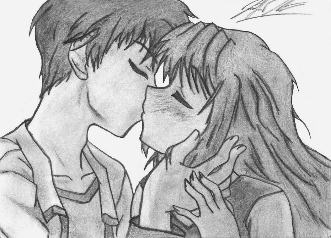 Dibujos De Amor Para Mi Novia 3 Dibujo Kissing Drawing Anime