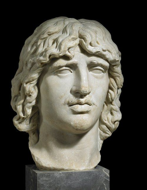 Marble head of a Gaul  AD 200  Roman (After a Hellenistic Greek c.210-180 BC)  (Source: The British Museum)