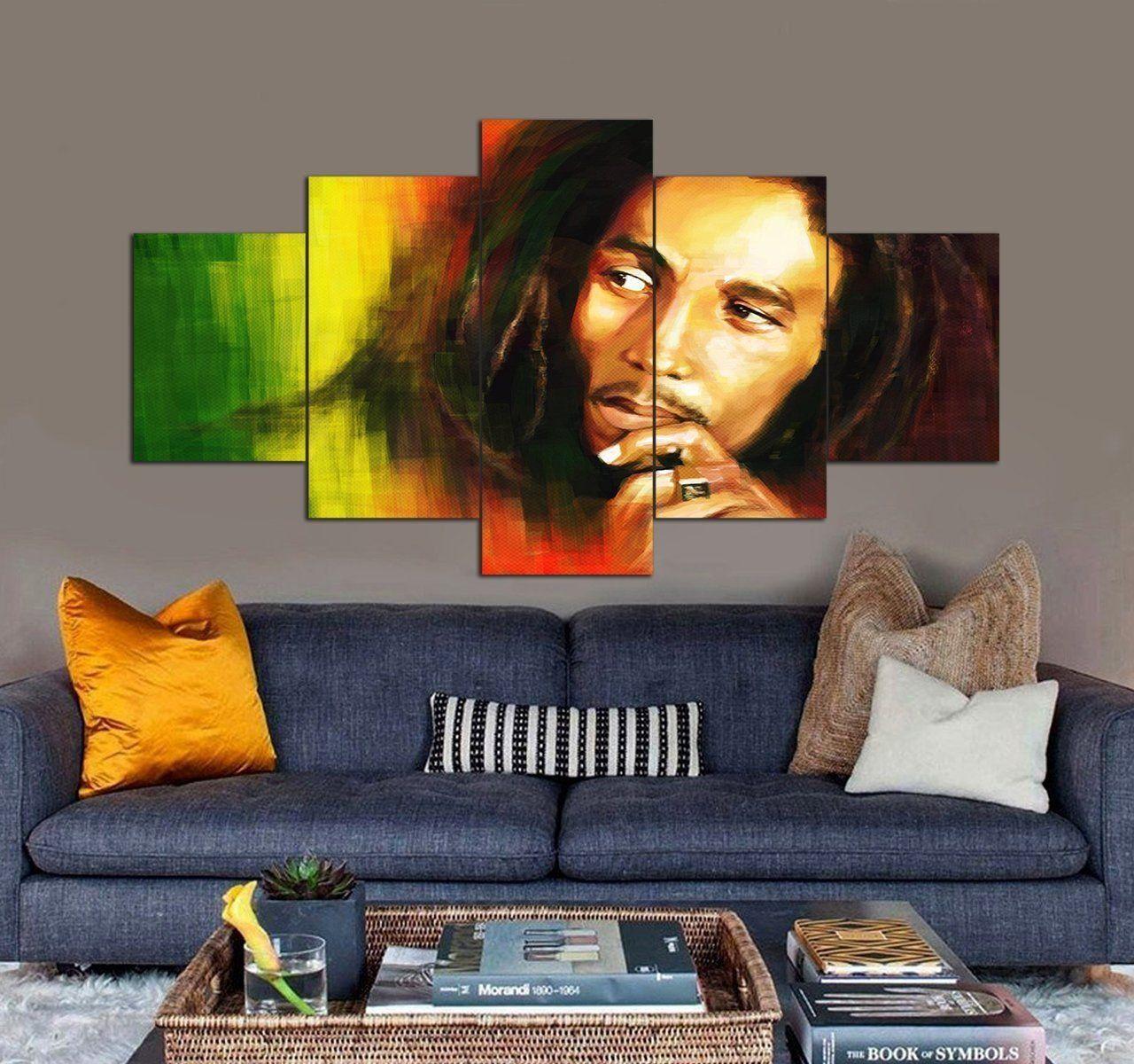 Bob Marley Canvas Art Set Music 5 Piece Canvas Art Trong 2020