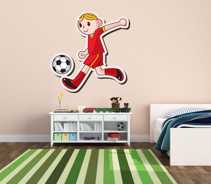 Um time de jogadores para decorar o quarto do seu filho esportista.  Cartela com 12 jogadores de 30 cm de altura.