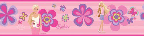 $6.99 RoomMates RMK1159BCS Barbie Deco Peel & Stick Border  From RoomMates   Get it here: http://astore.amazon.com/ffiilliipp-20/detail/B001DB6MCK/183-4658428-7839800