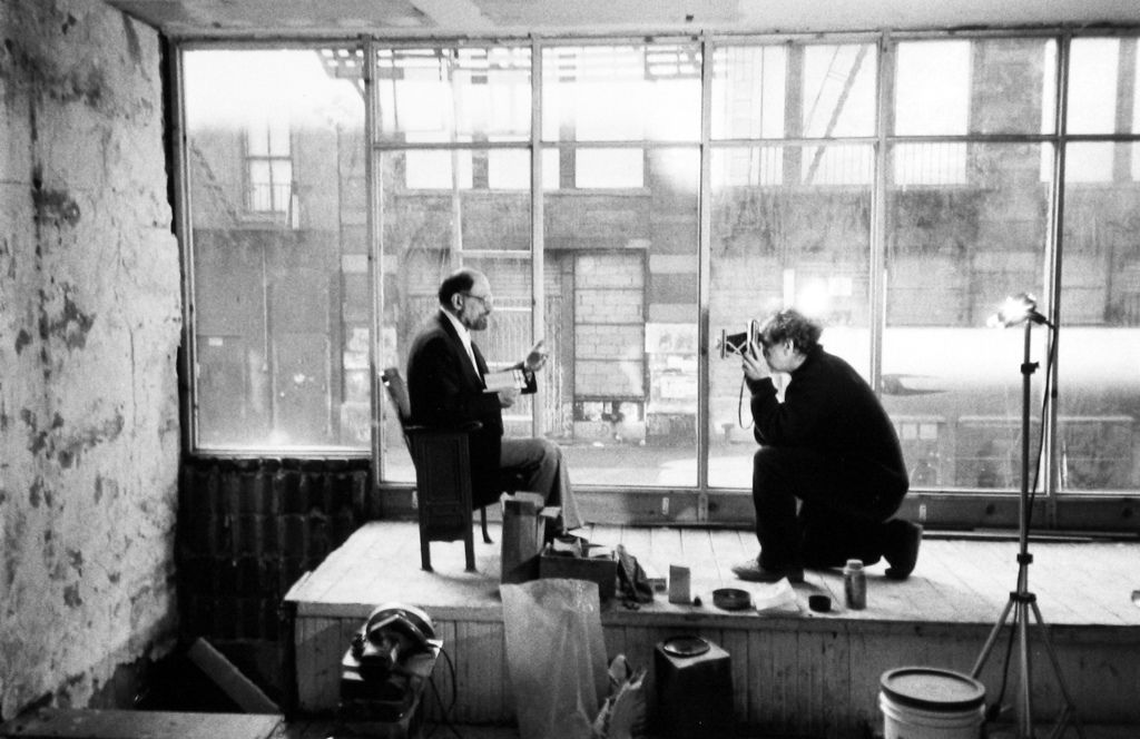 Robert Frank Photographing Allen Ginsberg For Collected