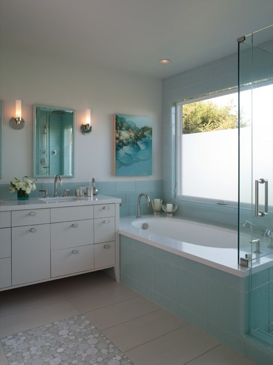 Shirley Parks Design Bathrooms Master Bathroom Aqua