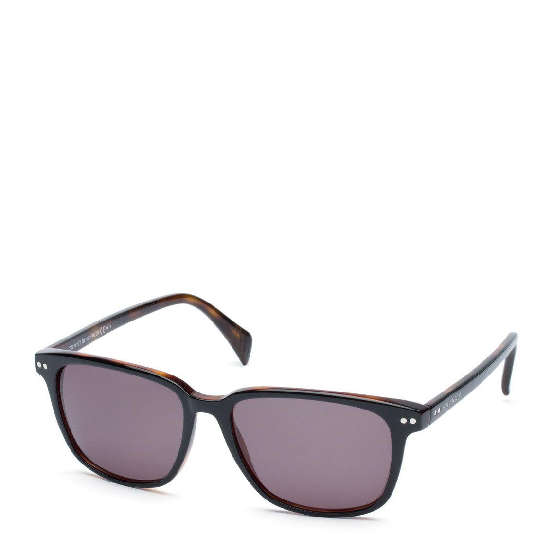 Clásicas gafas de sol en estilo carey. Montura rectangular de ...