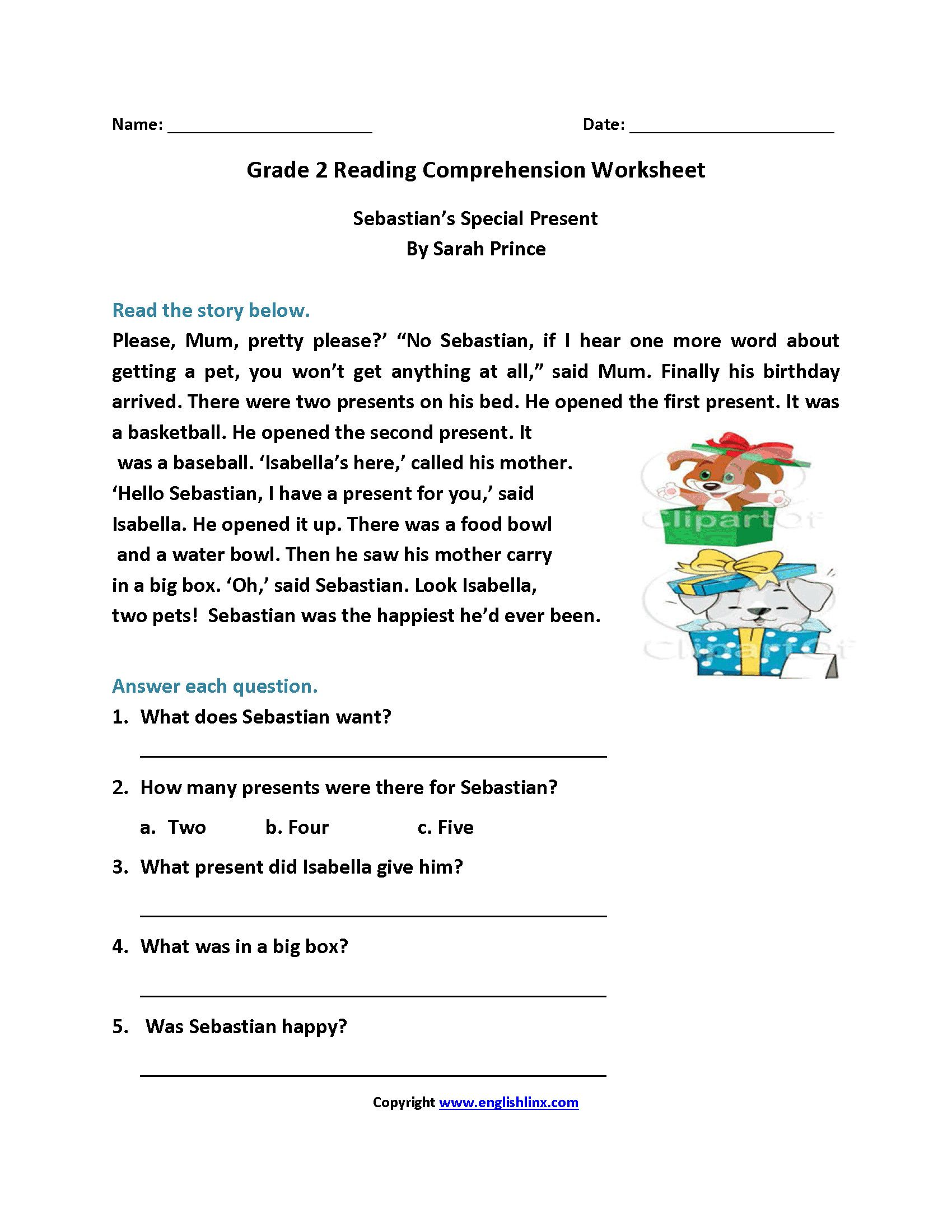 2nd Grade Reading Comprehension Worksheets In