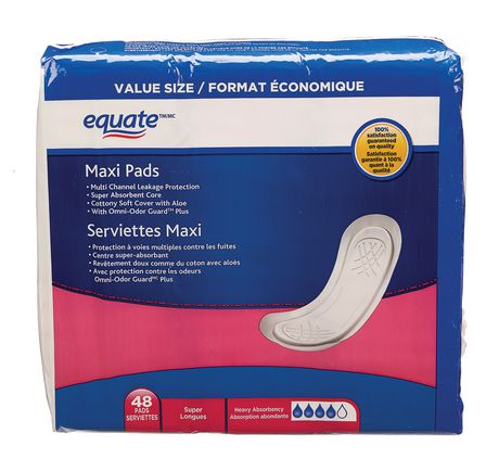 Equate Super Maxi Pads in 2019 | Products | Walmart, Facial
