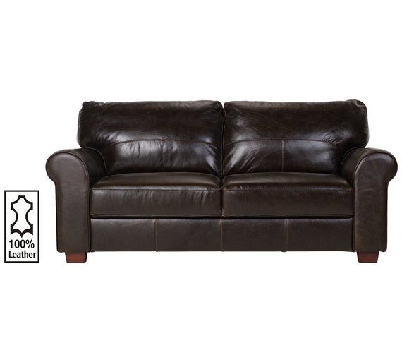 Heart Of House Salisbury 3 Seater Leather Sofa Chocolate At Argos Co