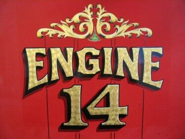 gold leaf engine turn truck lettering letter ornaments fire apparatus fire department