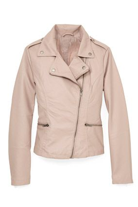 The super-affordable price of this Forever21 jacket (just $35!) makes it easy to try a trendy dusky blush shade.