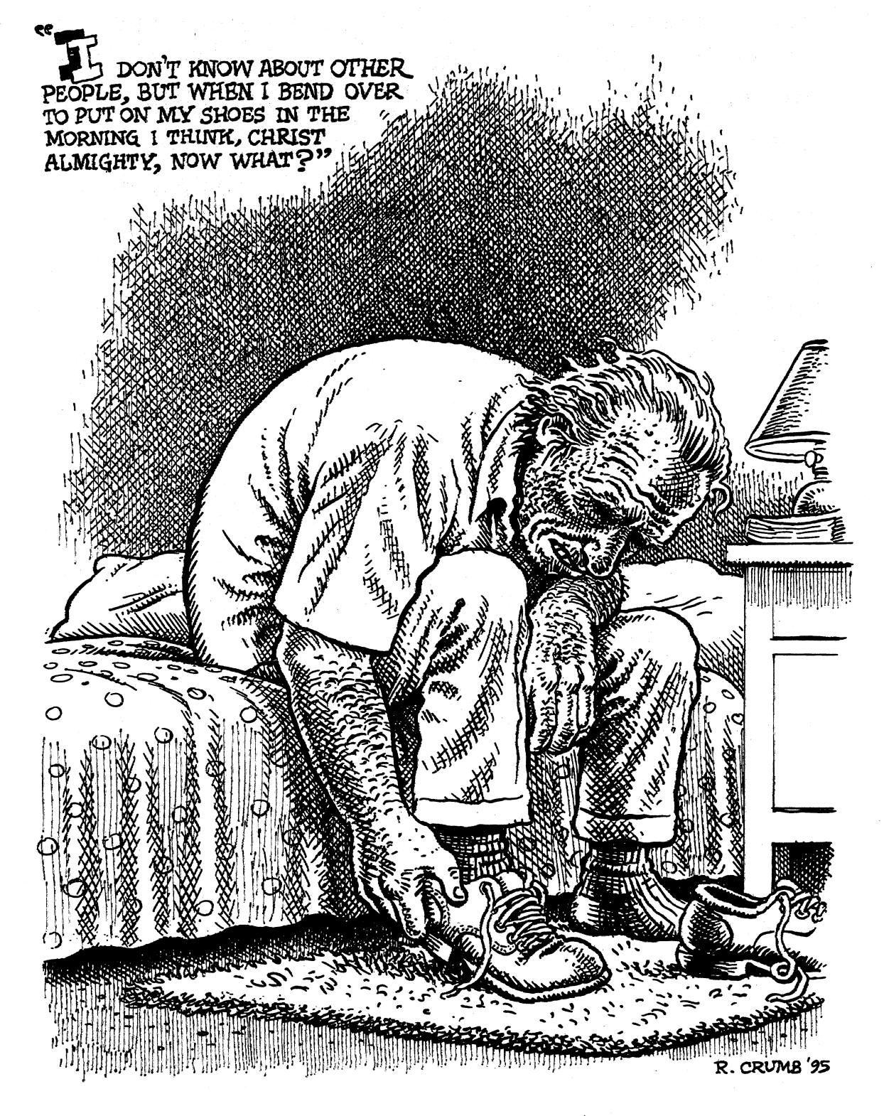 R crumb illustration of charles bukowski