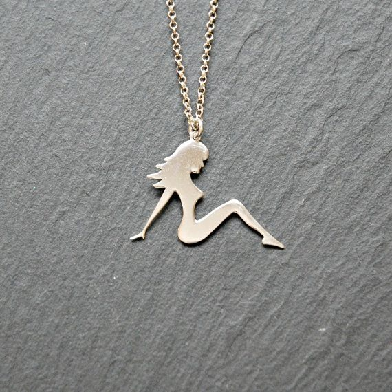 Trucker girl necklace sterling silver pin up girl pendant mud trucker girl necklace sterling silver pin up girl pendant mud flap girl aloadofball Image collections