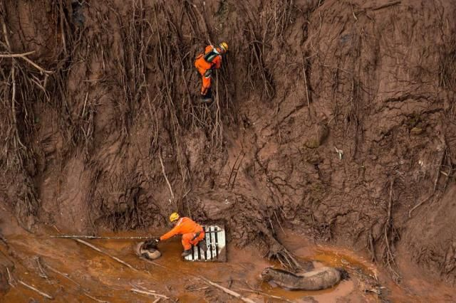 Bombeiros identificam sexta vítima do rompimento das barragens CHRISTOPHE SIMON/AFP