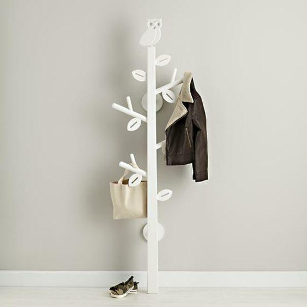 Porte Manteau Arbre Enfant #15: Un Porte Manteau Arbre En Blanc