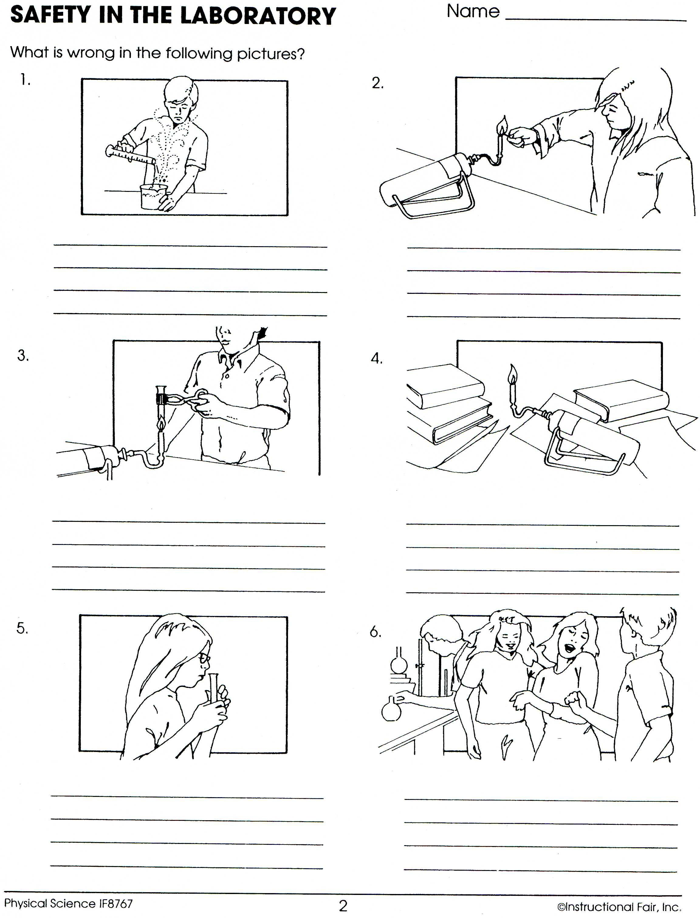 Lab Safety Worksheet Lee Keller Science Safety