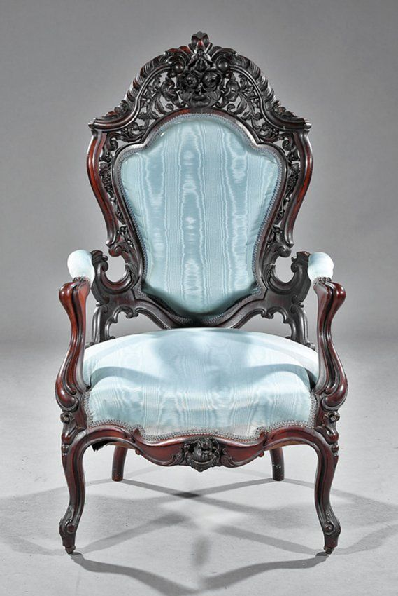 Rosewood Parlor Chairs Attr Meeks Antiques