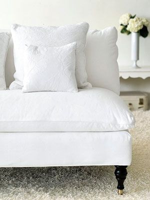 How To Clean Everything White White Upholstery Furniture White Couches