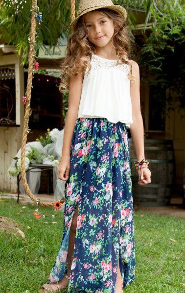 NEW CHILDRENS GIRLS KIDS MAXI TEENAGER LONG SKIRT SIZE 7 TO 13 YEARS