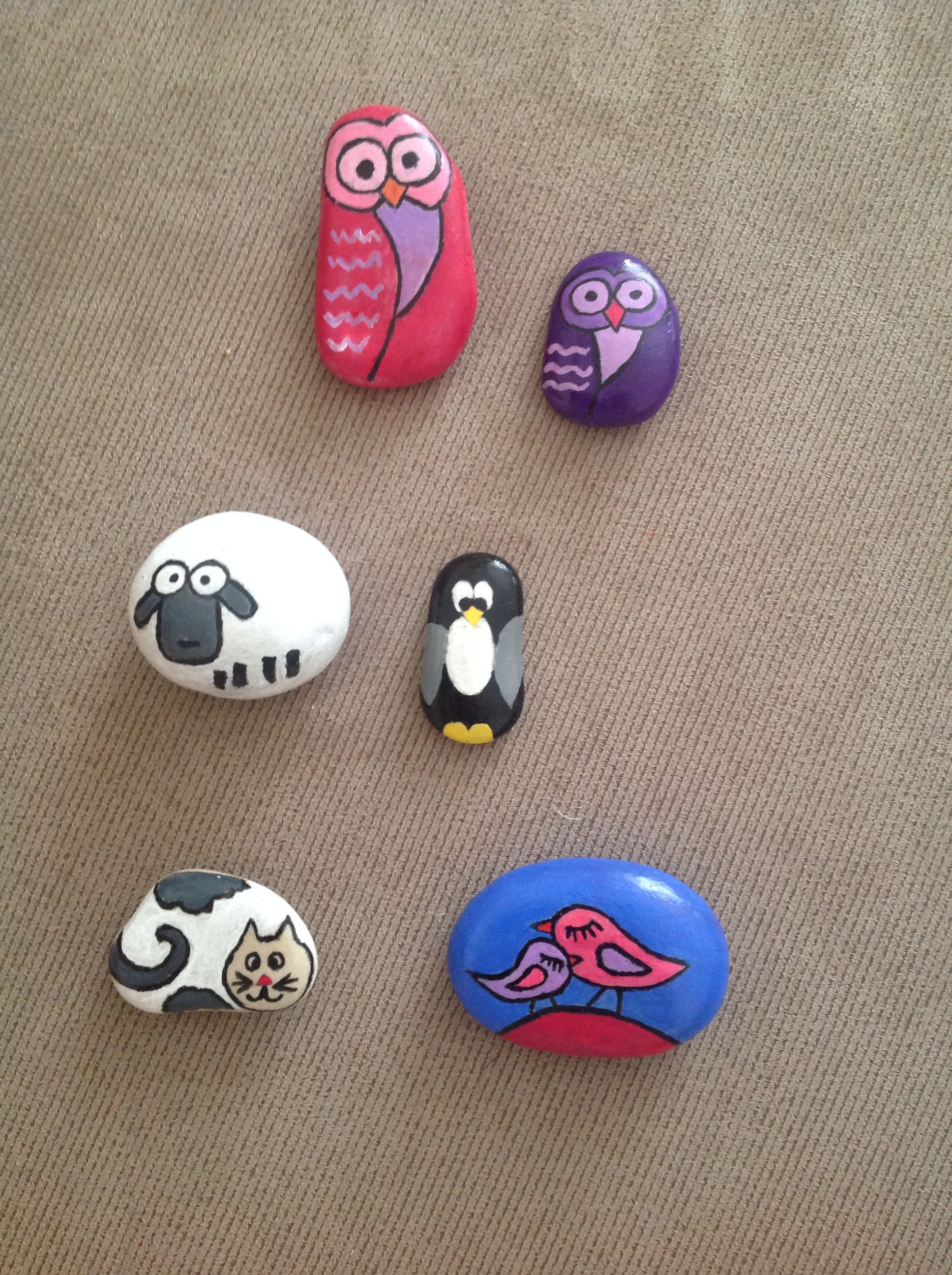 Tas Boyama Hayvanlar Painted Rock Animals Rock Painting Art