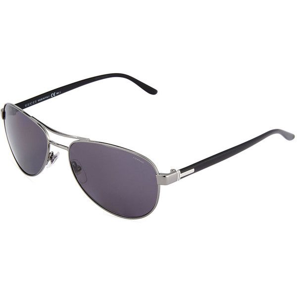 21f1b3ca9d1 Gucci Square Aviator Sunglasses ( 159) â ¤ liked on Polyvore featuring  accessories