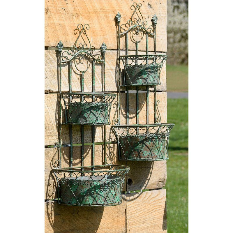 Goulds Hanging Plant Basket 2 Piece Wall Planter Set Hanging Plants Hanging Plants Outdoor Plant Basket