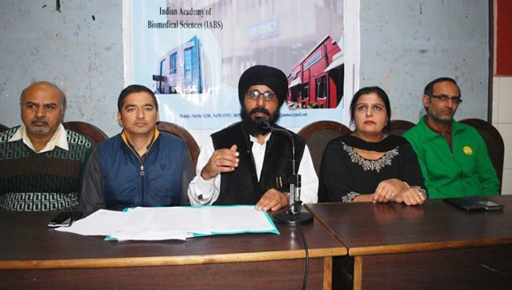 Hod Biochemistry Of Gmc Jammu Dr A S Bhatia Along With Others Addressing A Press Conference At Jammu Latest Images Conference India