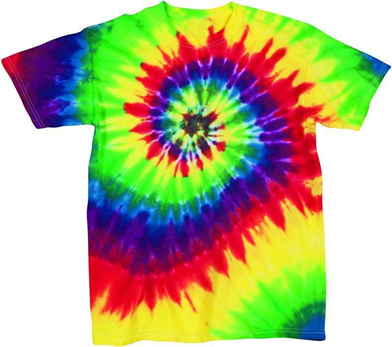 1d49647a2b6 Amazon.com  Pale Pastel Ariel Rainbow Swirly Multi-Spiral Unisex Adult Tie  Dye