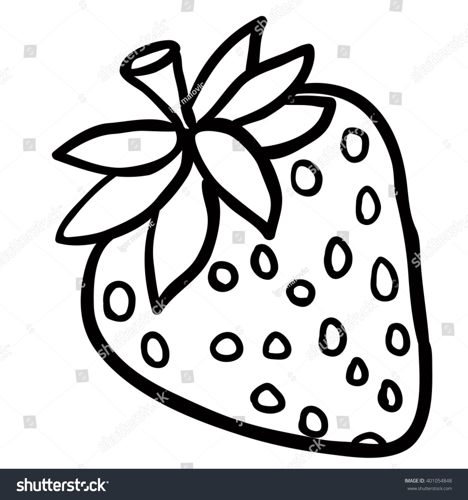 Image Result For Black And White Strawberry Images Cartoon Eyes White Background Cartoon