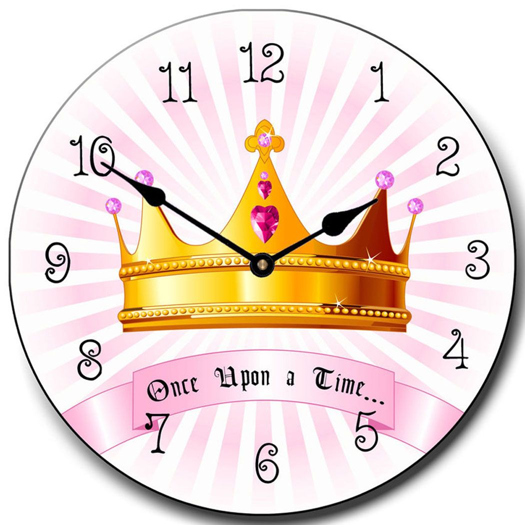 Princess Crown Clock.Large Wall Clocks. Pink in color home decor ...