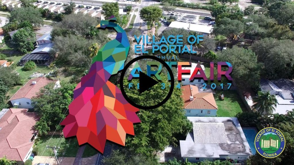 Watch El Portal Art Fair's Eye-Catching Video Invite - Mayor Claudia V. Cubillos and Airbrush Hero By Avi Ram invite you to the Village's 80th year anniversary kickoff celebration, Village of El Portal Art Fair! Held on February 3 -4, 2017 at Antiques & Design Mall Miami.   El …