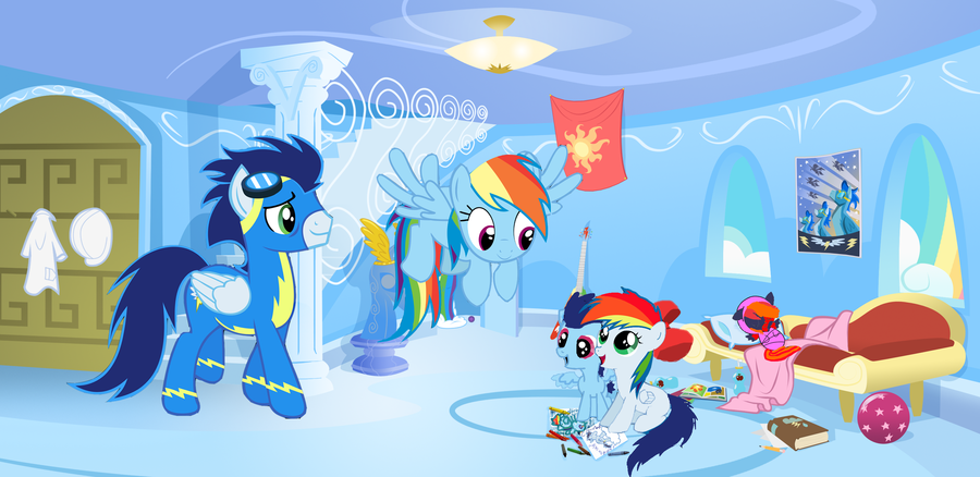 Rainbow Dash and Soarin Comics | This is an old picture ...