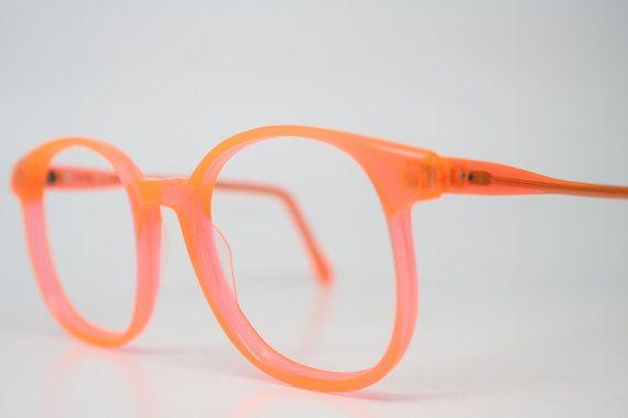 9c88823e0a Vintage Eyeglasses Pathway Optical Neon Orange 1980 s Retro Eyeglass Frames  on Etsy