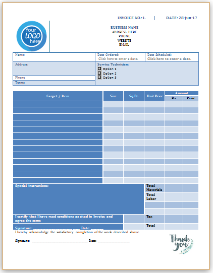 Carpet Cleaning Invoice Template 2 Invoice Template Professional Carpet Cleaning Cleaning