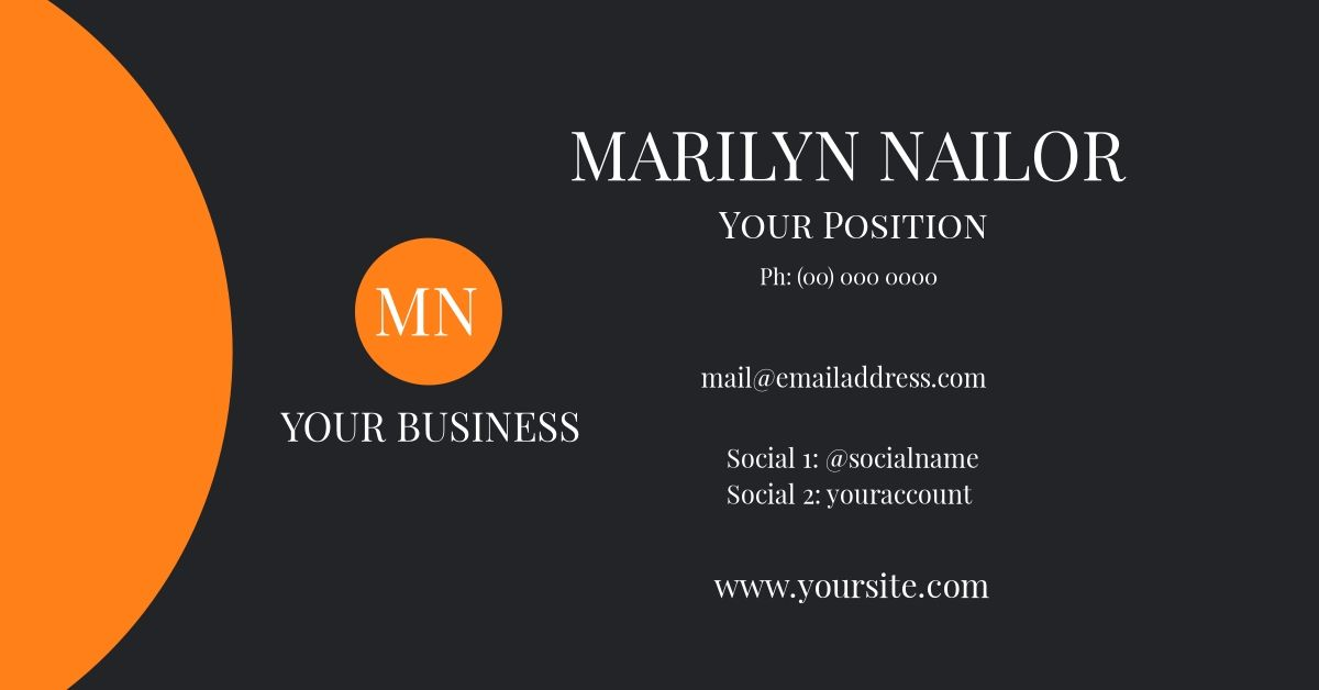 Customize this striking business card template using Design Wizard ...