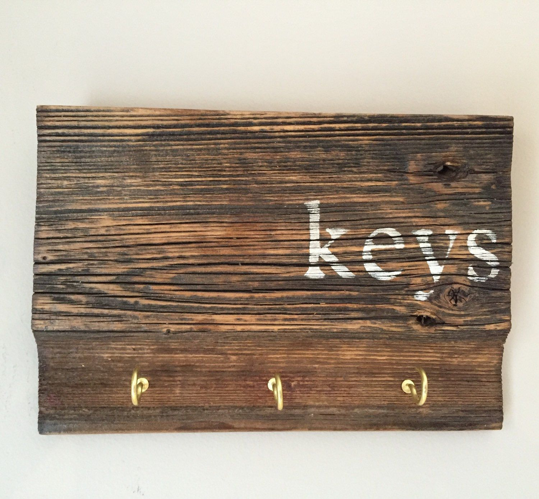 Key Holder, Rustic Wood Sign Key Holder, Key Holder for Wall, Key ...