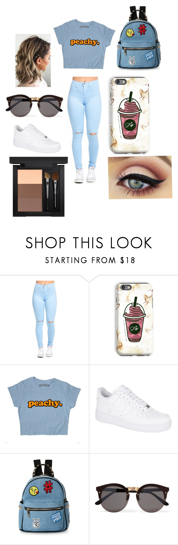 """""""Peachy keen, Peach kleen"""" by joyneely ❤ liked on Polyvore featuring beauty, NIKE, IMoshion, Illesteva, MAC Cosmetics, expressyourself and peachy"""