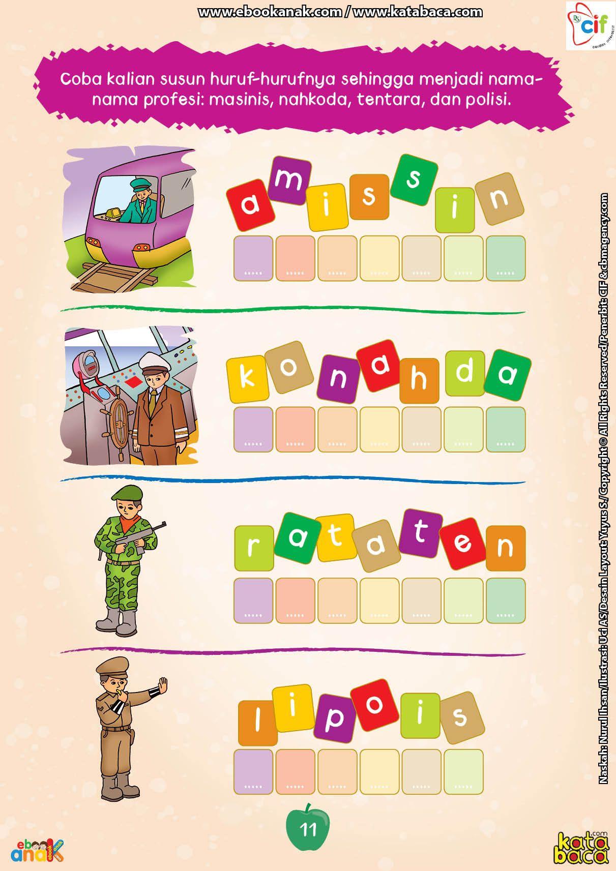 Baca Buku Online Brain Games Calistung11 Menyusun Huruf