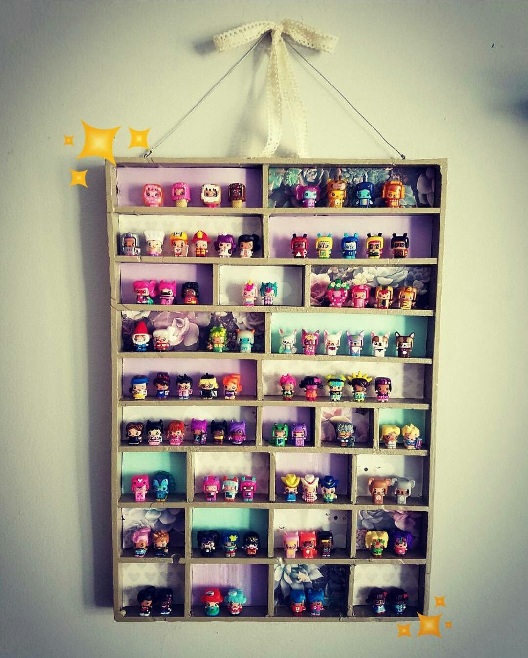 Hanging cute diy wall display case storage for my mini mixieqs