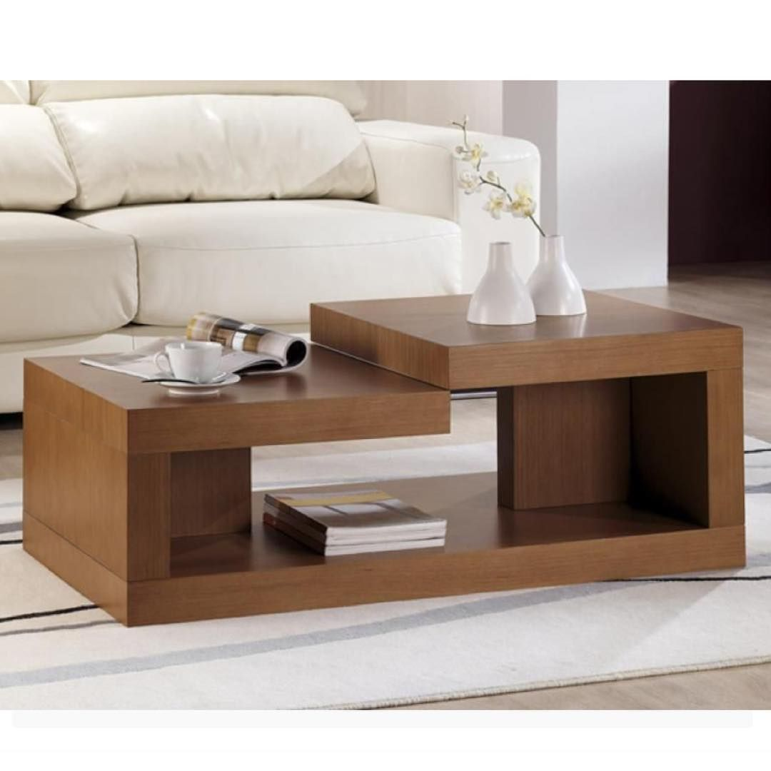 Wooden Overlapping Coffee Centre Table For Order Price