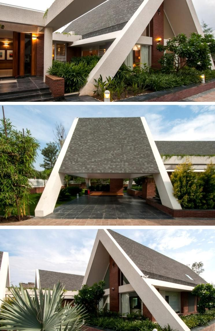 Sloping Roof House Design Buro Architects Roof Design Structure Sloping Contemporar In 2020 House Roof Design Modern Roof Design Residential Architecture Facades