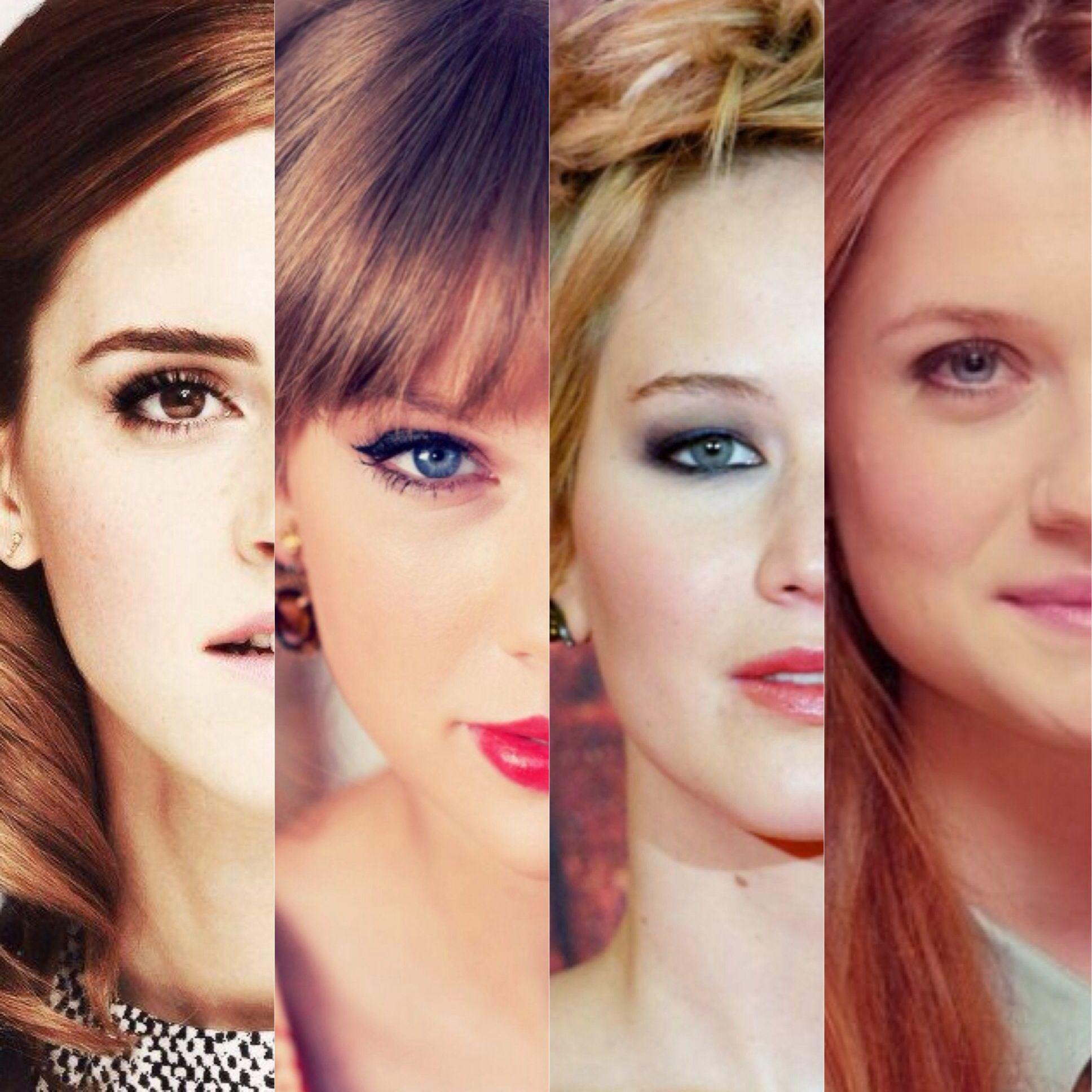 Emma Watson Taylor Swift Jennifer Lawrence And Bonnie Wright Bonnie Wright Jennifer Lawrence Bonnie