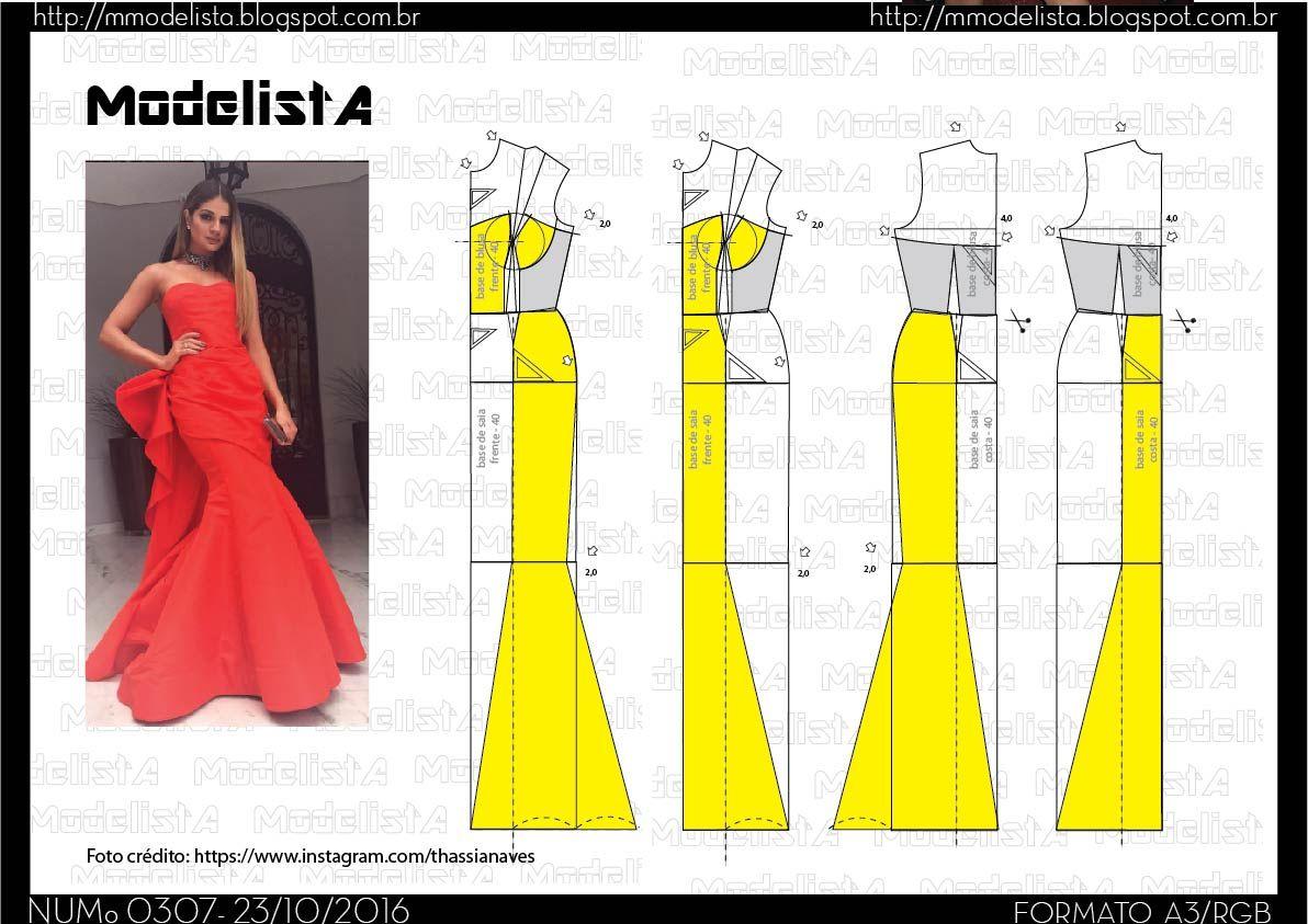 O vestido sereia é um tipo de peça que sempre aparece nos desfiles ...