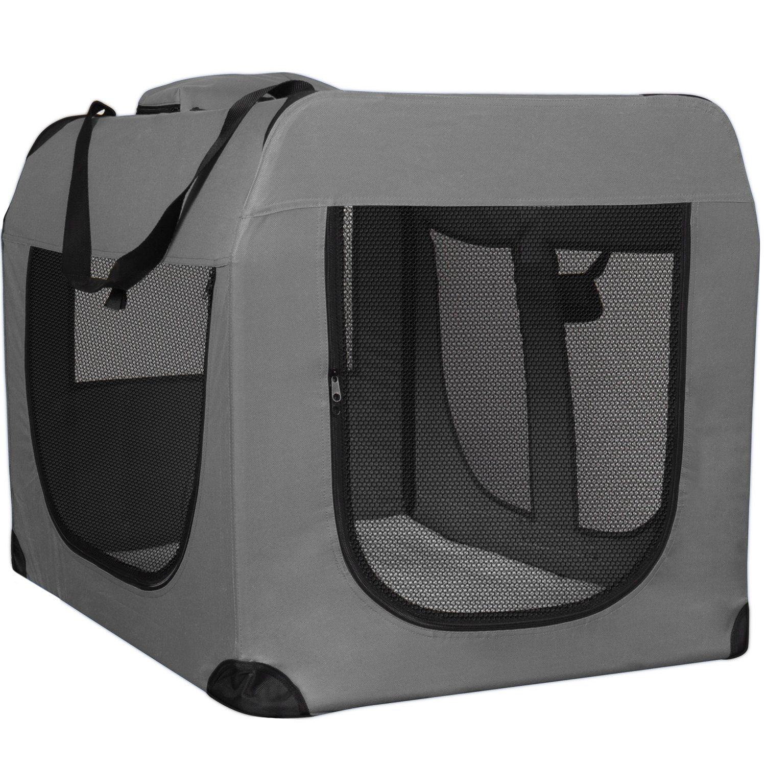 cae60eb5dfe Paws and Pals Foldable Soft Sided Pet Crate Training Kennel Carrier ...