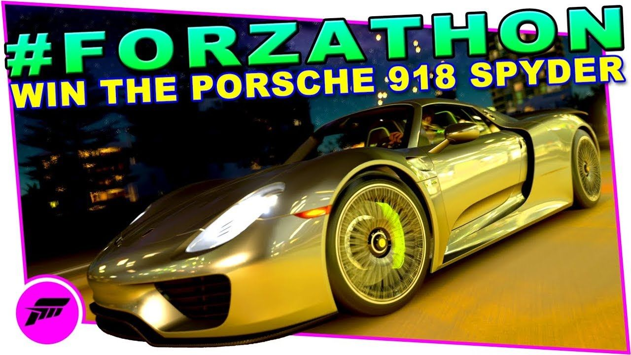 FORZATHON Supercar Superstar FORZA HORIZON 3 Win The Porsche 918 Spyder