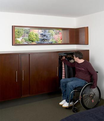 Built in wheelchair accessible closet sliding doors for Wheelchair accessible houses