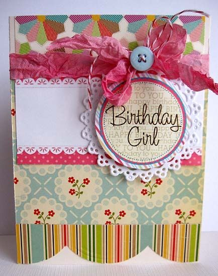 Handmade Birthday Card For Girl Scrappymos Gallery Birthday