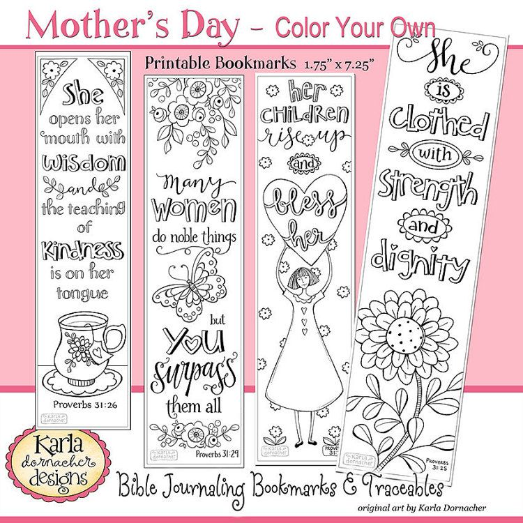 A Godly Woman PROVERBS 31 Color Your Own Bible Bookmarks Bible